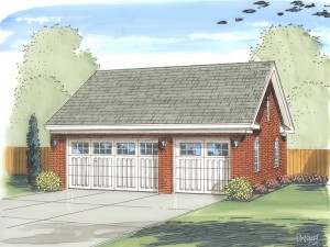 050G-0036 3-Car Garage Plan