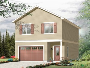 Garage Apartment Plan 028G-0008