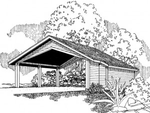 Carport Plan 051G-0041