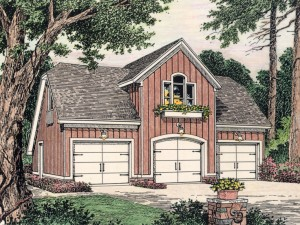 Garage Apartment Plan 042G-0001