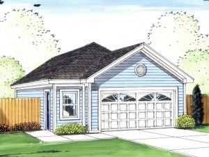 Tandem Garage Plan 050G-0054