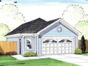 Tandem Garage Plan 050G-0054