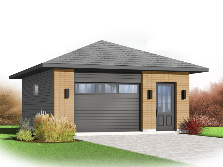 Attractive 1 Car Garage Plan 028G 0054 Amazing Design
