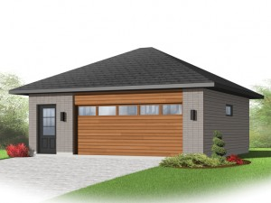 2-Car Garage Plan 028G-0055