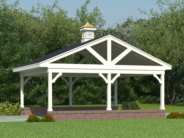 The garage plan shop blog carport plans for Timber carport plans