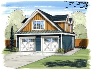 Garage Loft Plan 050G-0070