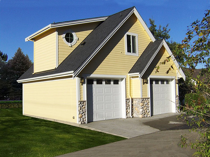 The garage plan shop blog detached garage plans for Two car garage with workshop plans