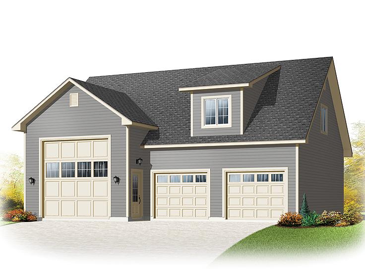 The garage plan shop blog rv garage plans for Class a rv with car garage