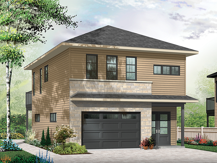 Garage Apartment Plan 027G-0011