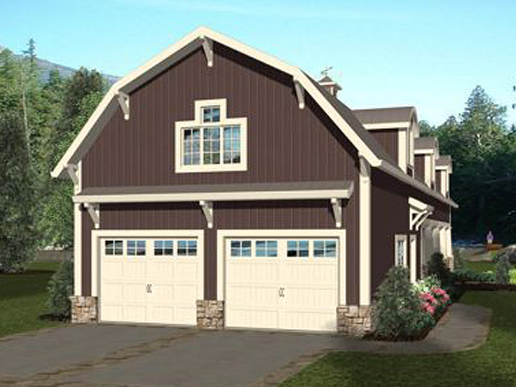 RV Garage Plan 007G-0021