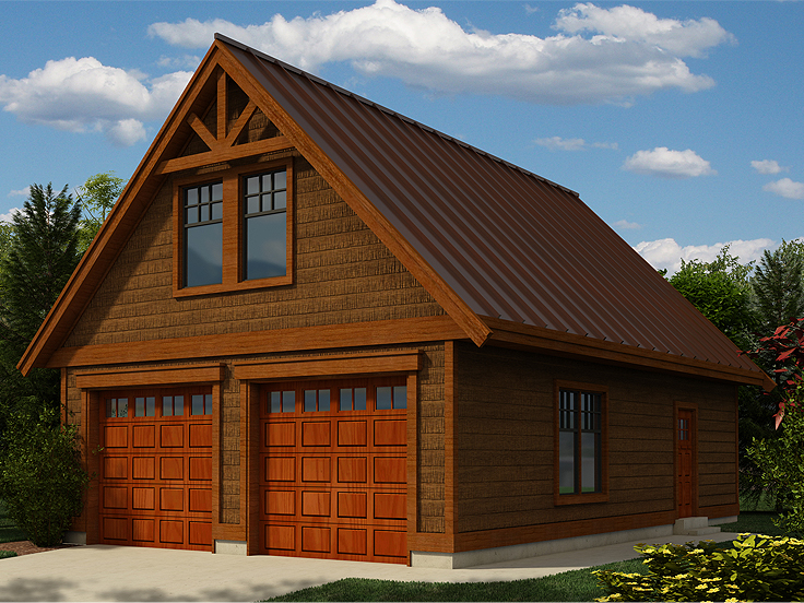 Garage Plan with Loft 010G-0006