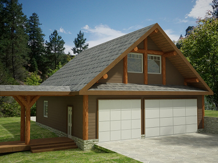 Garage Plan with Loft 012G-0045