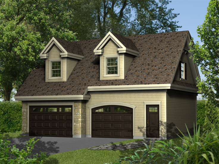 Garage Apartment Plan 072G-0028