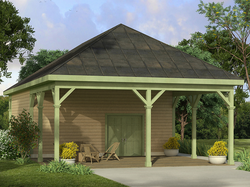 The garage plan shop blog carport plans for Carport with attached workshop