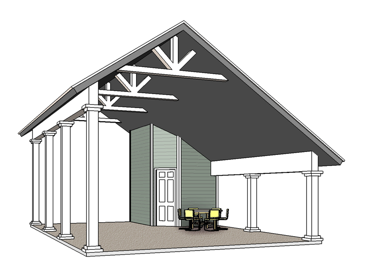 RV Carport Plan 006G-0164