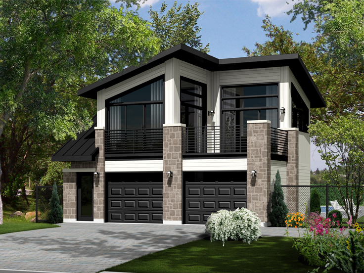 Modern Garage Plan 072G-0034