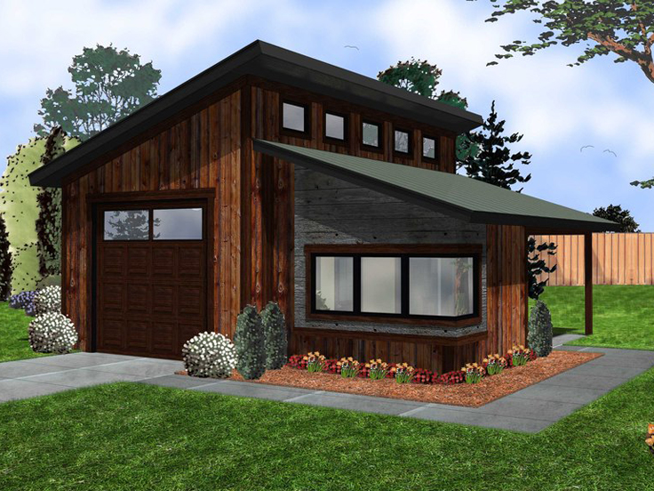 Garage modern  The Garage Plan Shop Blog » modern garage plans