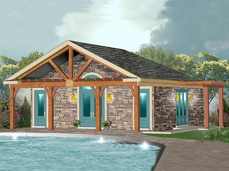 Pool House Plan 006P-0032
