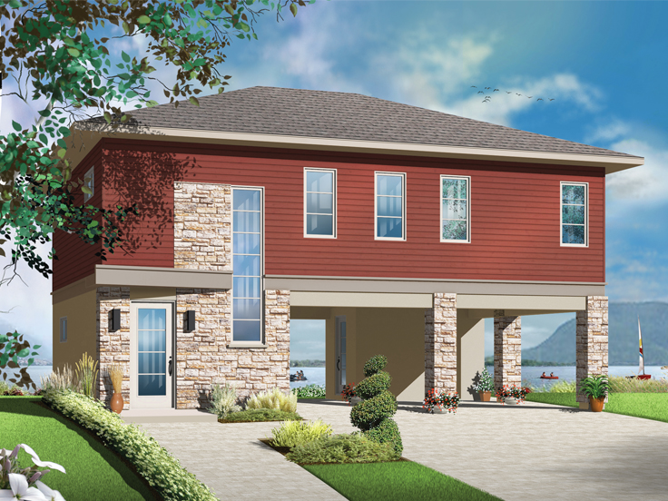 Garage Apartment Plan 027G-0010