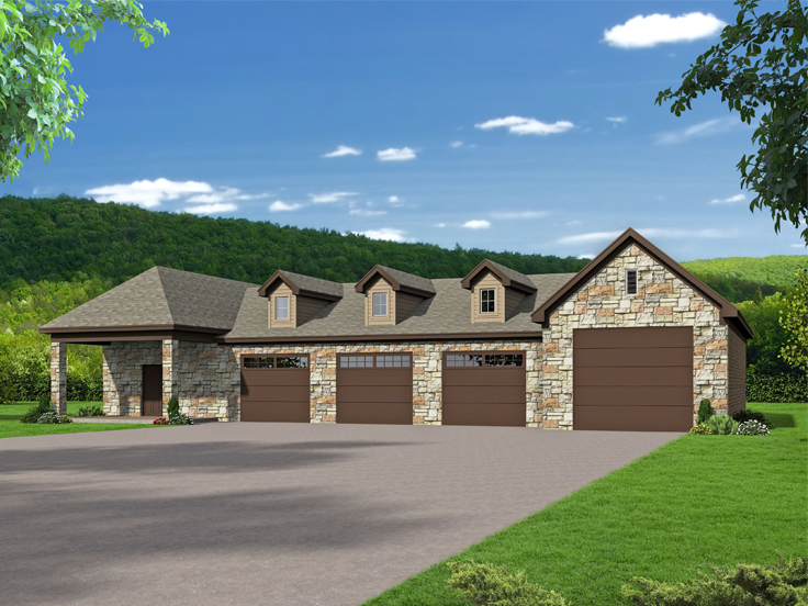 Over-Sized RV Garage Plan 062G-0160