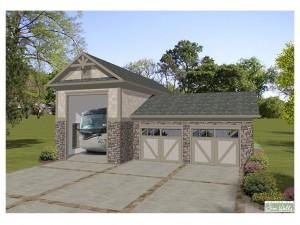 RV Garage Plan 007H-0010