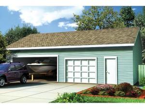 047G-0017 Garage Plan With Boat Storage