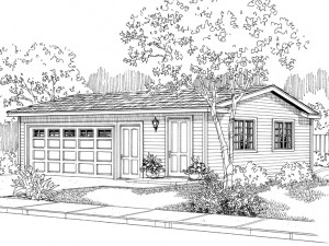 051G-0014 Garage Plan with Flex Space
