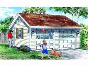 033G-0013 2-car Garage Plan