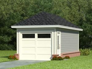 1 Car Garage Plan 006G-0004