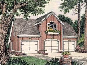 Garage Apartment Plan 042G-0001