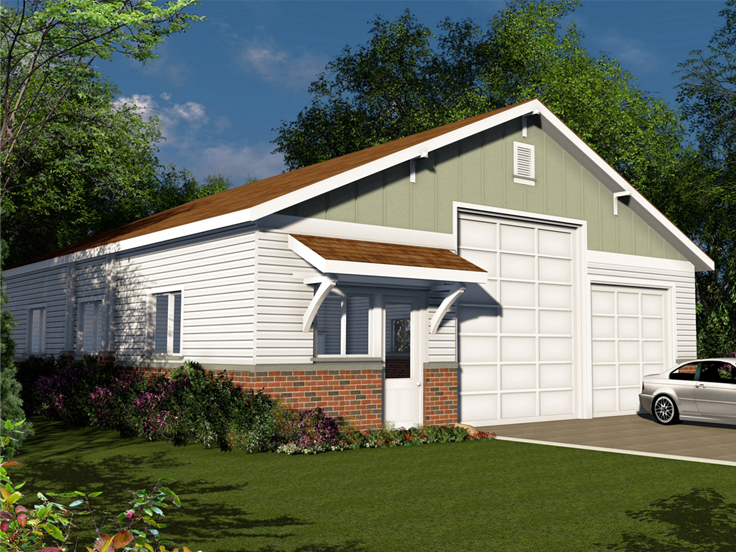 RV Garage Plan 051G-0091