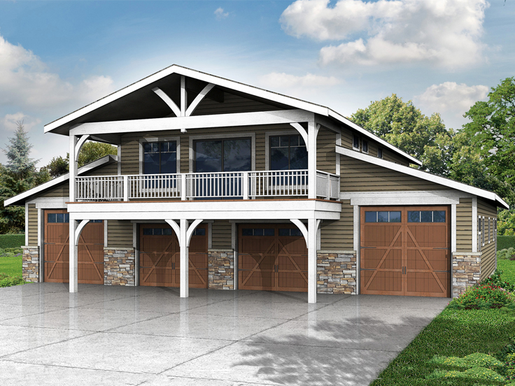 Garage Plan with Flex Space 051G-0075