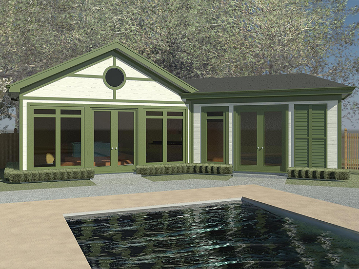 Pool House Plan 006P-0007