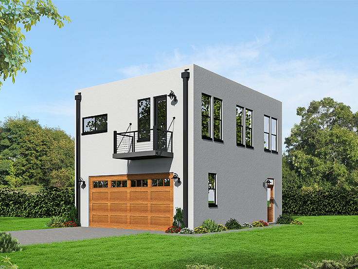 Garage Apartment Plan 062G-0084