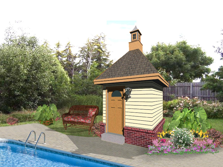 Pool House Plan 006P-0001