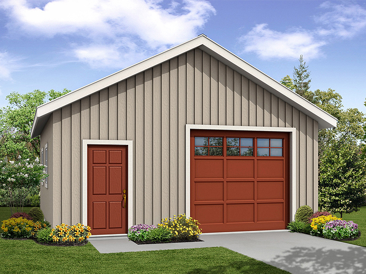 1-Car Garage Plan 051G-0095