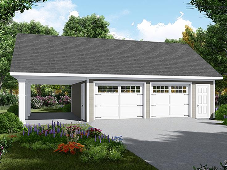 Traditional Garage Plan 001G-00007