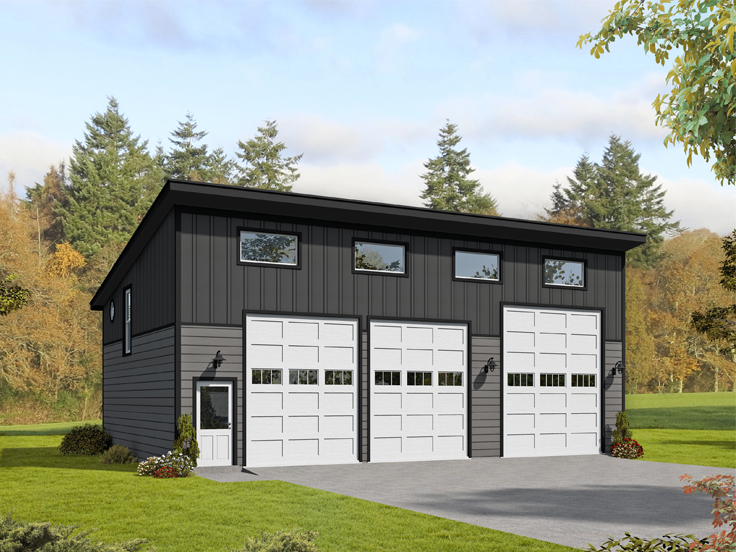 Lift-Friendly Garage Plan 062G-0162