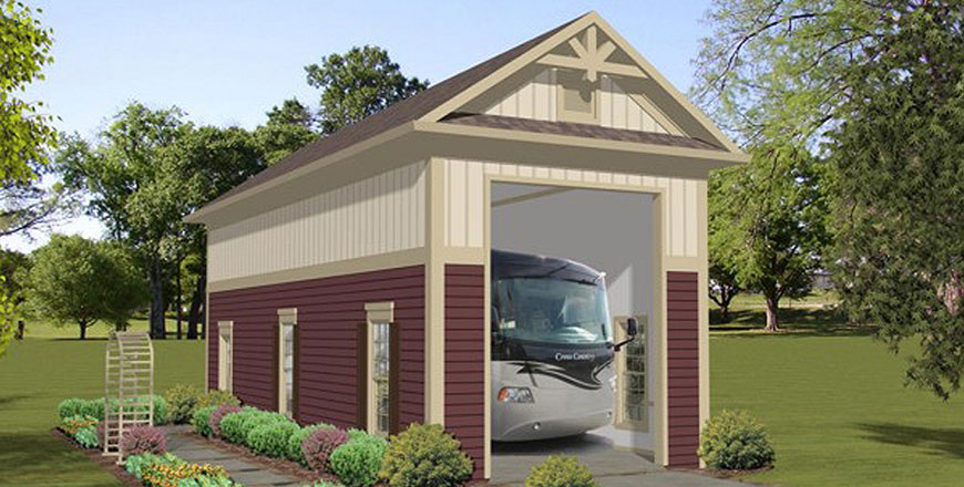 Garage plans garage apartment plans outbuildings for 1 5 car garage plans