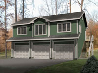 The Garage Plan Shop - Multipurpose Garage Apartment Plans