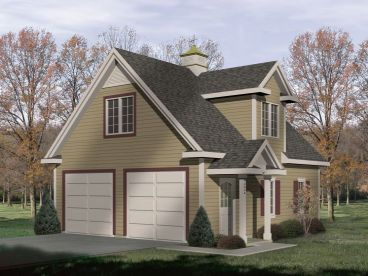 2 Car Garage Plan