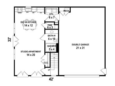 nice shop apartment plans. 1st Floor Plan Garage Apartment Plans  Two Car 006G 0117