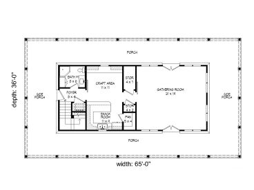 1st Floor Plan, 062P-0003