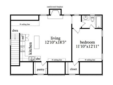 Garage apartment plans three car garage apartment plan for Garage studio apartment plans