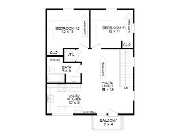 2nd Floor Plan, 062G-0116