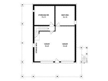 Garage Apartment Plans 2 Bedroom 2 Bath Garage Apartment 006g