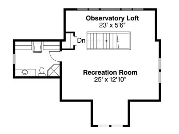 2nd Floor Plan, 051G-0107