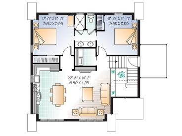 2nd Floor Plan, 027G-0005
