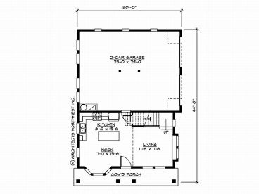 Garage apartment plans craftsman style 2 car garage for Garage with living quarters one level