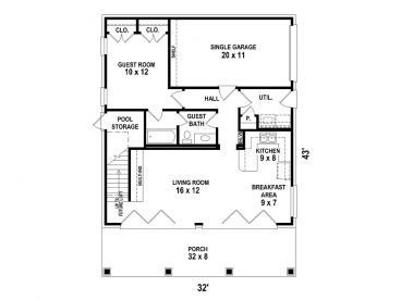 1st Floor Plan, 006G-0155